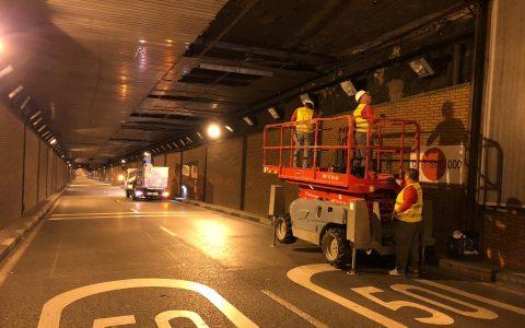 Reforma techo Túnel M3O